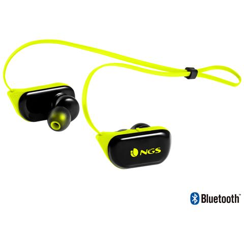 NGS ARTICARANGERYELLOW, Stereofonico, Bluetooth, Interno orecchio, Passanuca, Nero, Giallo, Senza fili, Intraurale