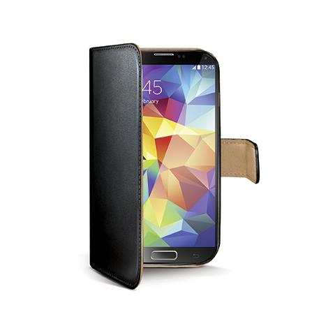 CELLY bk pu wallet case for galaxy s5
