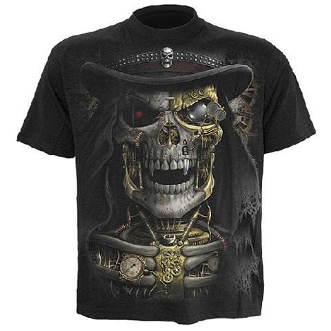 Spiral Direct Spiral - Steam Punk Reaper - T-shirt Black (T-Shirt Unisex Tg. S)