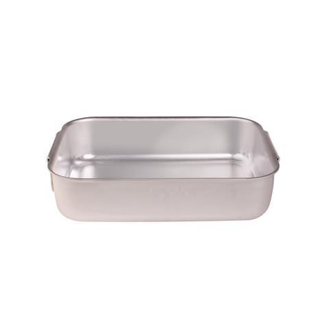 Rostiera Rettangolare Pesante 2 Maniglie Dimensioni 80x50 cm - Linea Alluminio 3 mm