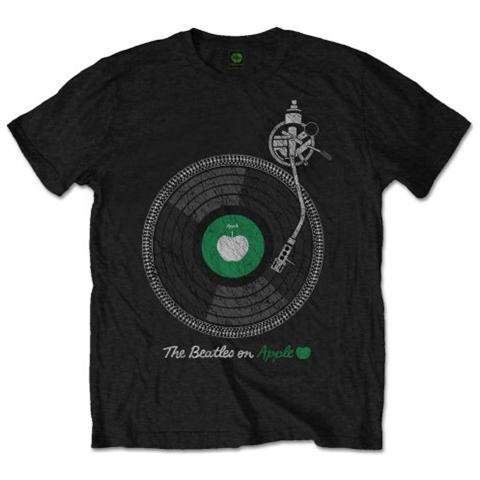 ROCK OFF Beatles (The) - Apple Turntable Black (T-Shirt Unisex Tg. 2XL)