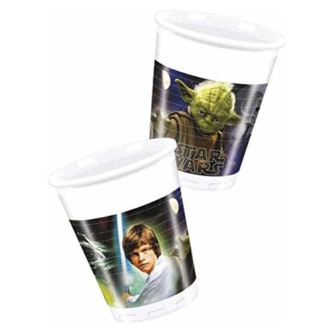 COMO GIOCHI Star Wars - Heroes And Villans - 8 Bicchieri Di Plastica