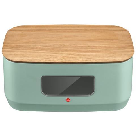 Portapane Kitchenline Design Con Tagliere Verde Menta Opaco 0833-940