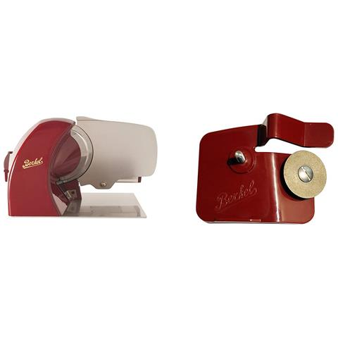 Affettatrice Home Line 250 Rossa + Accessorio Affilatoio