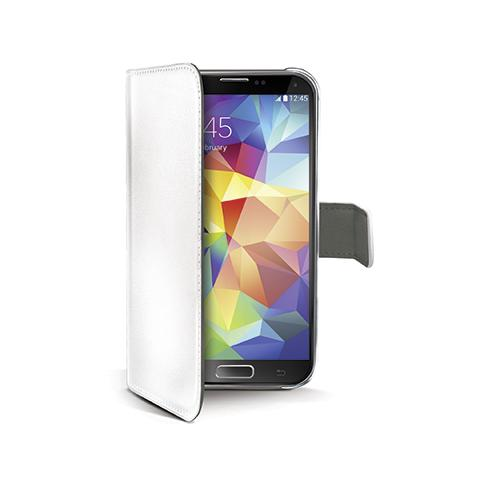 CELLY white pu wallet case galaxy s5