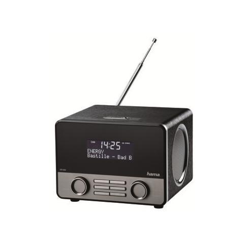"HAMA Digital Radio ""DR1600"", DAB+, FM, Bluetooth, USB, 10W RMS, plastica, nero / argento"