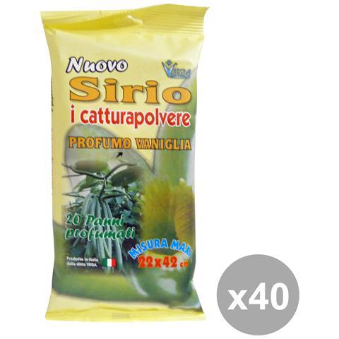 Sirio Set 40 Panni Polvere Vaniglia X 20 Pezzi Attrezzi Pulizie