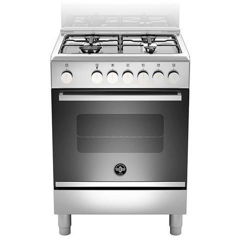 Cucina Elettrica FTR664EXV 4 Fuochi a Gas Forno Elettrico Multifunzione Ventilato Classe A...