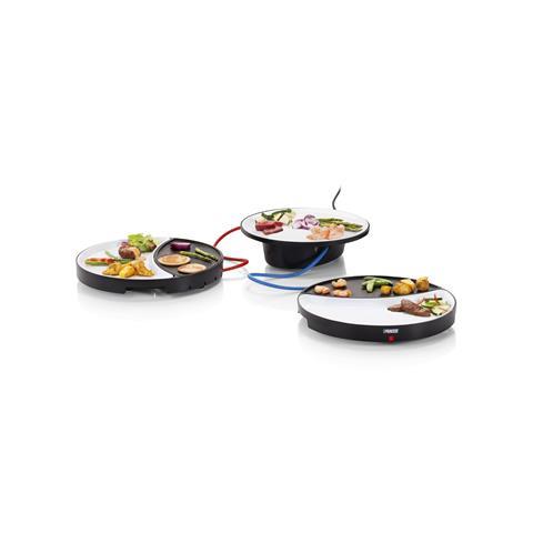 Dinner4All, 2 Persone Piastra in Ceramica Potenza 500 Watt