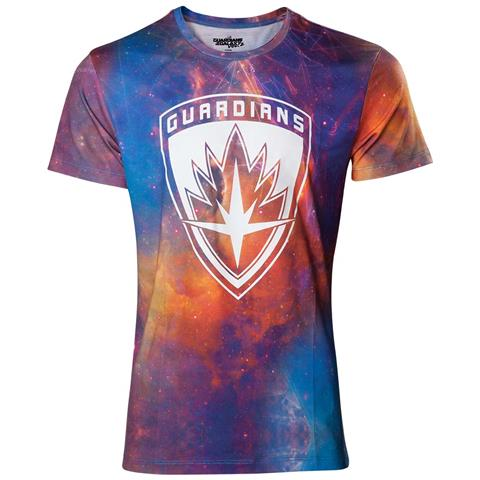 BIOWORLD Guardians Of The Galaxy - All Over Logo Multicolor (T-Shirt Unisex Tg. M)