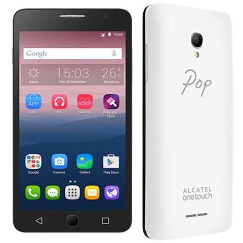 "ALCATEL Pop Star 5 Bianco 8 GB 4G/LTE Dual Sim Display 5"" Slot Micro SD Fotocamera 8 Mpx Android Italia"