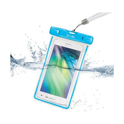 """CELLY Bag Waterproof per Smartphone fino a 6"""" - Blu"""