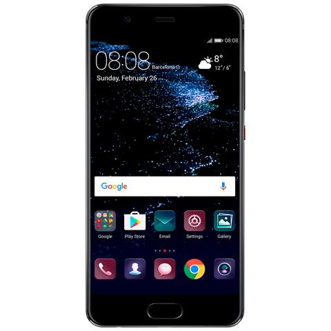 "HUAWEI P10 Nero 64 GB 4G/LTE Display 5.1"" Full HD Slot Micro SD Fotocamera 20 Mpx Android Italia"