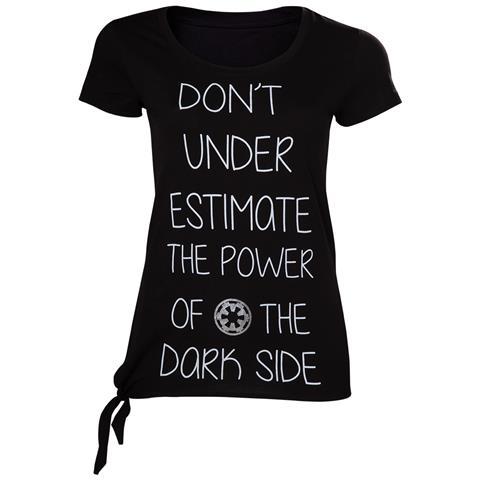 BIOWORLD Star Wars Rogue One - Don't Underestimate The Dark Side (T-Shirt Donna Tg. M)