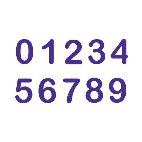 , Set 10 Stampini A Forma Di Numeri