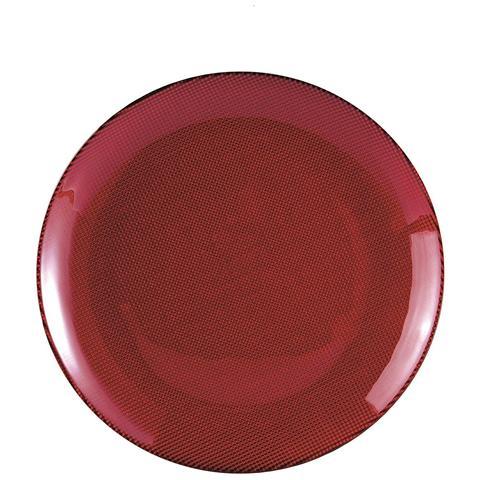 EXCELSA Piatto Piano Diamond rosso centimetri 26