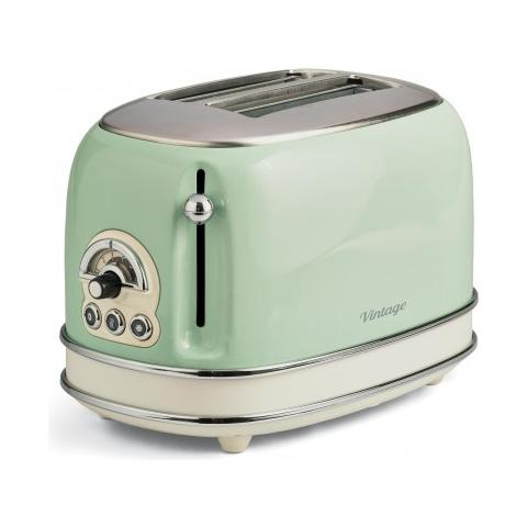 Tostapane Vintage a 2 Fette Potenza 810 W Colore Verde
