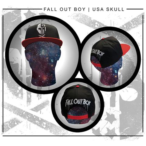 PHM Fall Out Boy - Usa Skull (Cappellino)