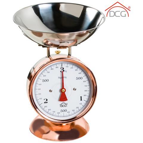 Bilancia Da Cucina Meccanica Per Alimenti Capacità 3 Kg Rame Inox Scala 20gr Dcg