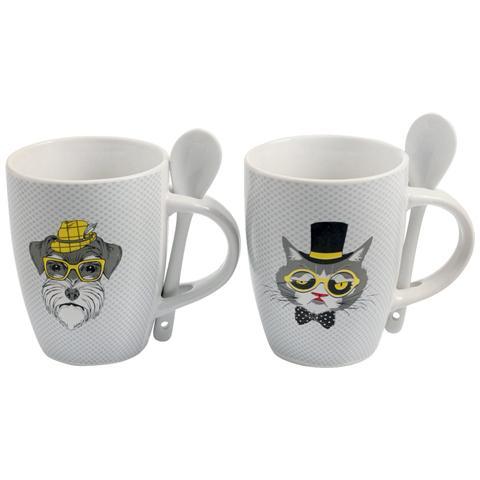 Tazza Mug C / Cucch. Pz. 2 Animali