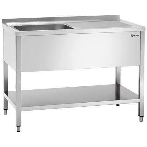 306320 Lavello con due vasche e sgocciolatore in acciaio inox
