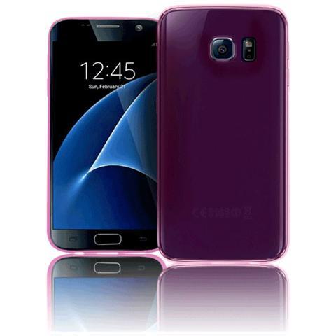 FONEX Inv Cover Ultra Sottile 0,2 mm in Morbido TPU per Galaxy S7 Edge Colore Rosa Trasparente