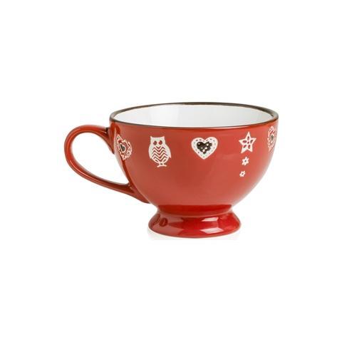 Tazza Colazione Incanto Rosso Stoneware