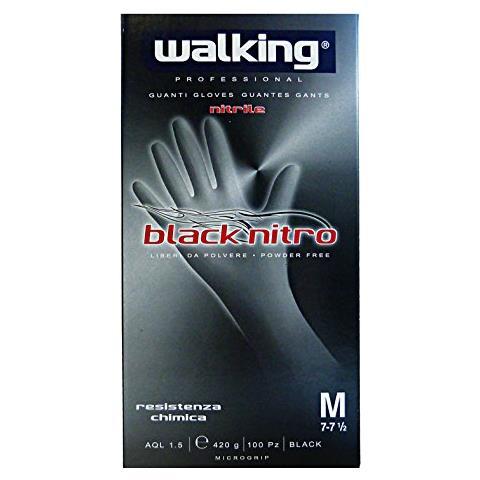 Walking Guanti X 100 Blacknitro M Nitrile 010582 Giardinaggio