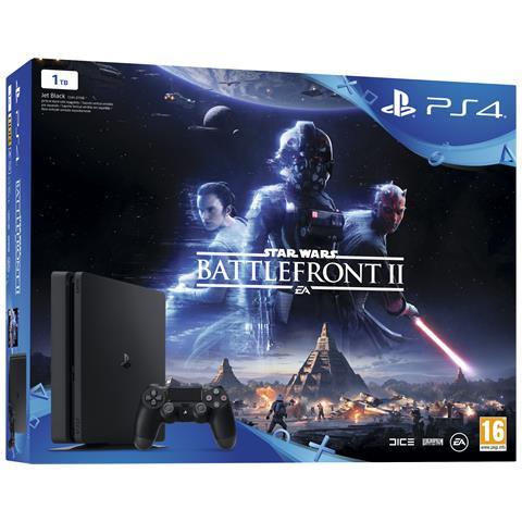 Image of Console Playstation 4 PS4 1 Tb Slim Black + Star Wars Battlefront 2 Limited Bundle