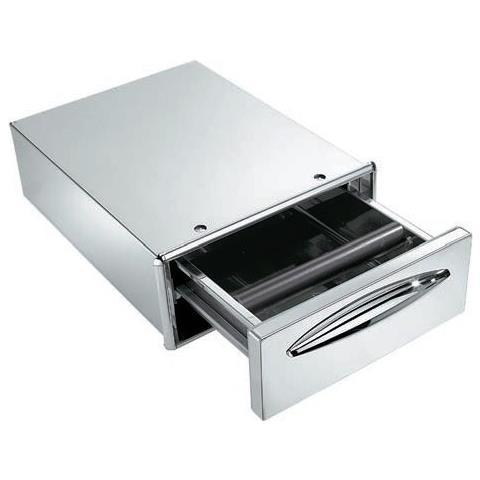 Cassetto Caff? Acciaio Inox Foro Banco Cm 35x14 Rs9556