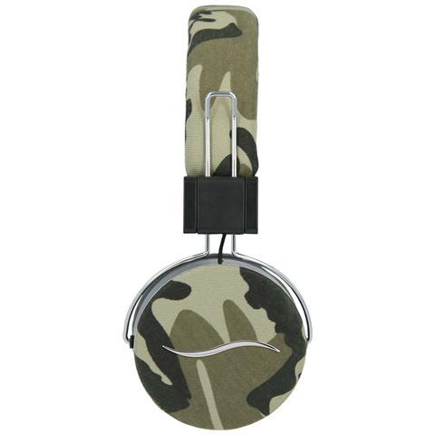 HI-FUN Cuffie Hi-Deejay On-Ear con Control Talk Colore Verde Militare