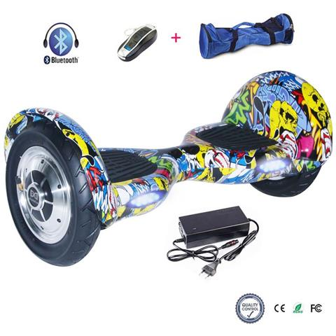 Image of 10 Pollici Hoverboard Smart Balance Monopattino Elettrico Pedana Scooter Bluetooth Due Ruote Con Lithium Batteria Hip-hop