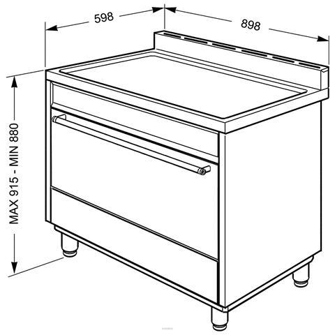 SMEG - Cucina a Gas B90GMXI9 5 Fuochi Forno Elettrico Dimensioni ...