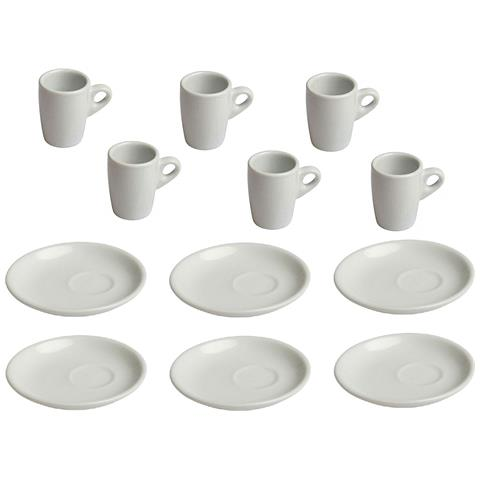 Tognana Set 6 Tazzine Caffe' + Piatto - 60 Cc Linea Easy Coffe Nancy