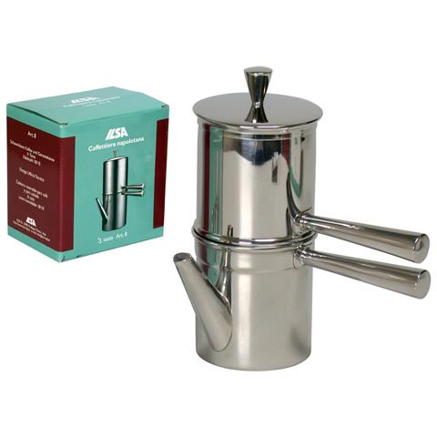 Caffettiera in Acciaio Inox 3 Tazze - Modello Napoletana