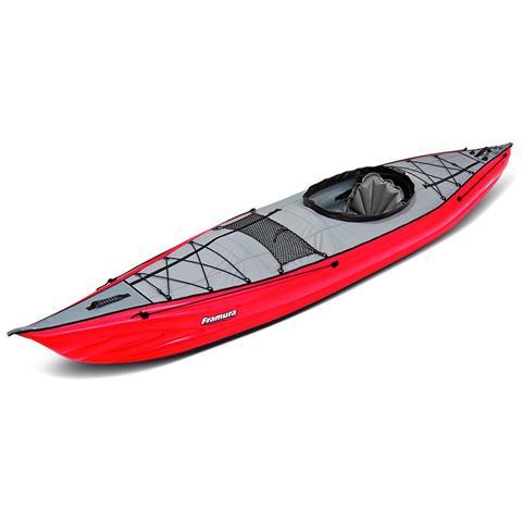 Canoa Gonfiabile Framura Rossa Con Pinna 045220-r (5c / 11c)