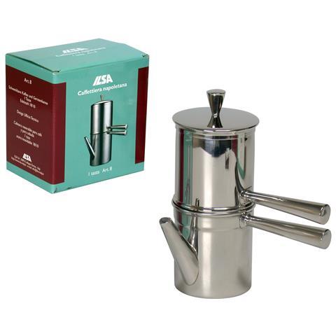 Caffettiera in Acciaio Inox 1-2 Tazze - Modello Napoletana