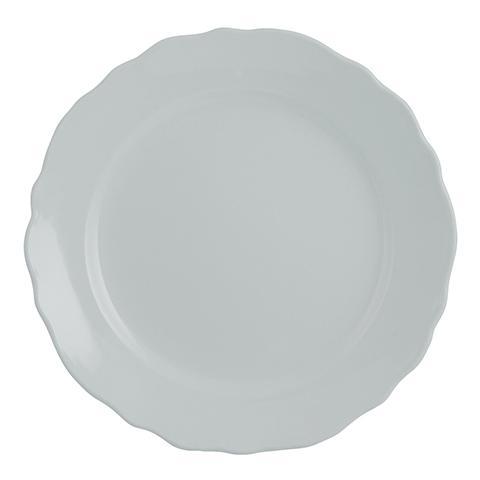 """H&H Set 6 Piatti Piani Ceramica """"vaniglia"""" Azzurro Tableware"""