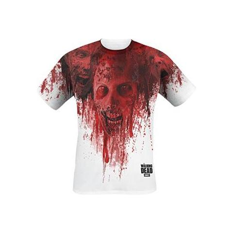 IMPORT Walking Dead - Walkers In Face Stain Full Printed (T-Shirt Unisex Tg. XL)