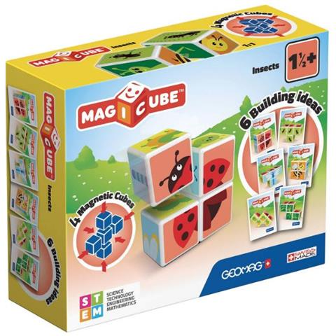 Newproject Italia Srl Geomag - Mab18000 - Magicube Insects Con 4 Cubi