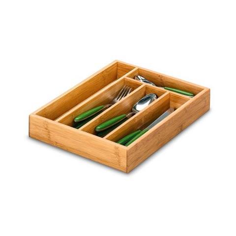 Zeller Portaposate da cassetto Bamboo 34 x 26 cm in legno di bambu'