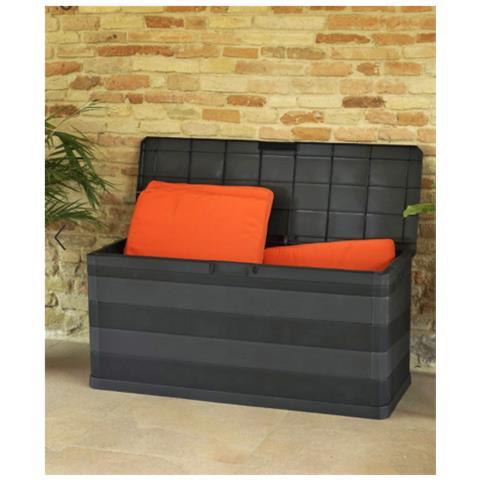 Toomax Elegance Line Baule Da Giardino Multiuso In Resina 117x45xh56 Cm - Nero
