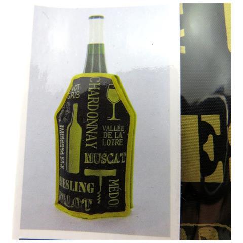bottiglia del dispositivo di raffreddamento 'dégustation' dorato nero - [ n2676]
