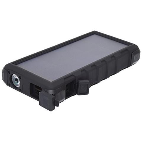 SANDBERG Outdoor Solar Powerbank 24000 Ioni di Litio 24000mAh Nero, Grigio batteria portatile