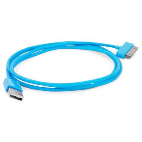 EMACHINE I-PHONE-CB-BL - Cavo da connettore dock a USB per iPhone 30p Azzurro