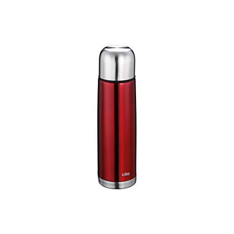 Bottiglia Termica, Acciaio Inossidabile, Rossa, Cm 29h X 8 Diametro, 0,75 L