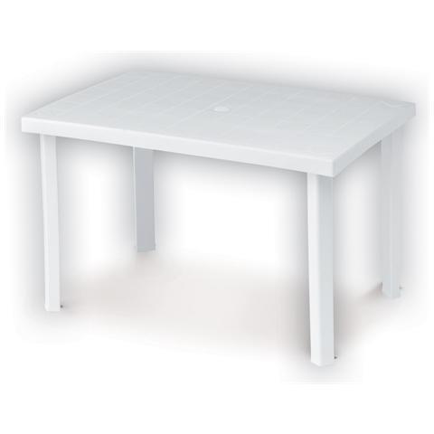 Tavolo Da Giardino Rettangolare Calaf Bianco 120x80cm Dimaplast 000953