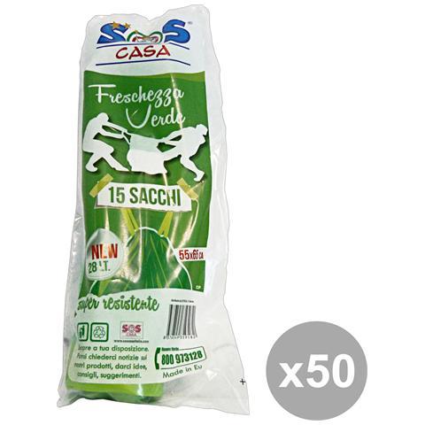 "SOS casa Set 50 5x65 Verde Profumata Maniglie 15 Pezzi """"sos Casa"""" Riordino"