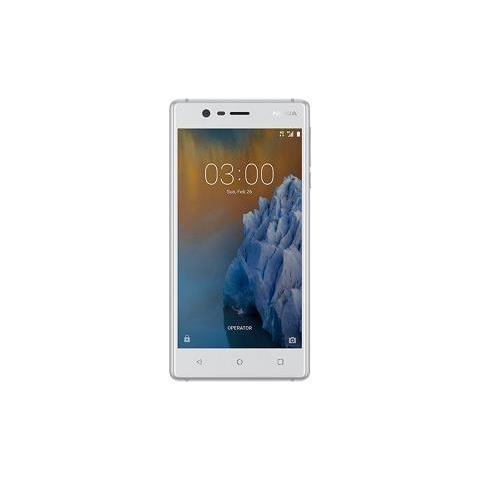 "NOKIA 3 Bianco 16 GB 4G / LTE Display 5"" HD Slot Micro SD Fotocamera 8 Mpx Android Tim Italia"