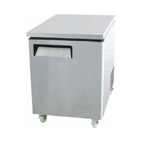 Tavolo Frigo Refrigerato 1 porta acciaio inox Temperatura +2° / +8°C dim. cm 69.8x76.2x92.7